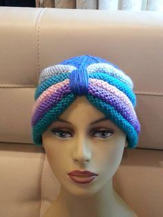 Knit Caribbean Chemo Cap Turban