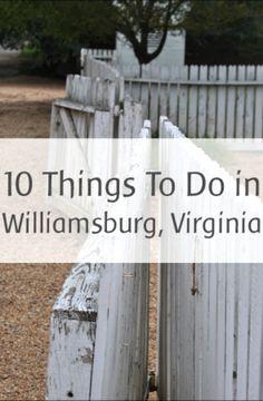10 Things to Do with Kids in Williamsburg, VA - Kids Activities Blog
