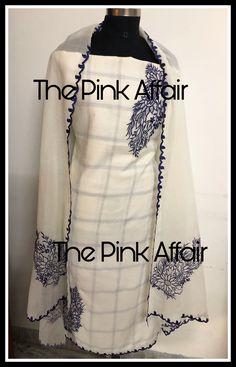 Punjabi Suit Boutique, Punjabi Suits Designer Boutique, Indian Designer Outfits, Designer Dresses, Embroidery Suits, Hand Embroidery, Embroidery Designs, New Suit Design, Modern Mehndi Designs