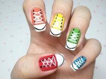 Sneaker nagels.