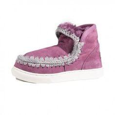 Mou Mini Eskimo Sneaker Women Grape #musthave #Retro
