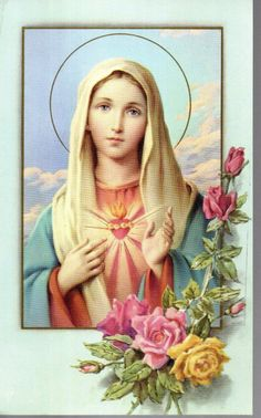 The Immaculate Heart of Mary Mary Jesus Mother, Mother Of Christ, Blessed Mother Mary, Mary And Jesus, Blessed Virgin Mary, Mother Mary Wallpaper, Jesus Wallpaper, Madonna, 7 Sacraments
