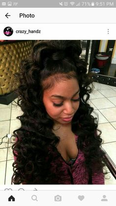 Quality virgin human hair & extensions trusted & recommended by stylists, and backed by the only return policy in the industry. Try Mayvenn hair today! My Hairstyle, Ponytail Hairstyles, Weave Hairstyles, Pretty Hairstyles, Girl Hairstyles, Black Hairstyles For Prom, Curly Ponytail, Frontal Hairstyles, Elegant Hairstyles