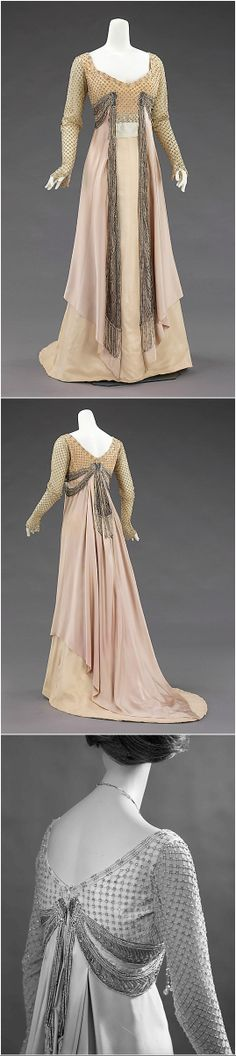 Evening dress, by Jean-Philippe Worth, 1907-10, at the Met. See: http://www.metmuseum.org/collection/the-collection-online/search/156038?img=0&imgNo=0&tabName=gallery-label