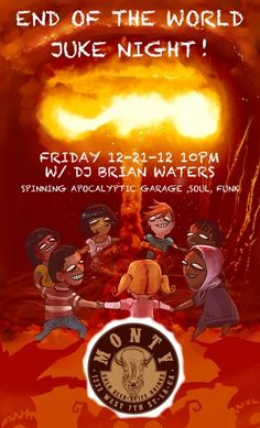 Let's get down to the sweet sounds of the apocalypse w/ Dj Brian Waters 10pm !! NO COVER !! #DTLA #MontyBar #FridayNight
