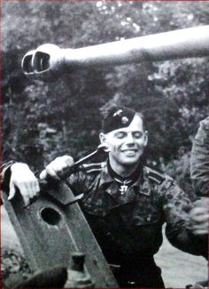 SS-Oberscharführer Johann Thaler from Breitenbach/Tirol was the first Panzer driver of the Waffen-SS to be awarded the Knights Cross on 14 August 1943. He was killed in action on 7 April 1945 fighting near Vienna.