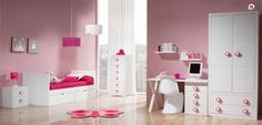 Dormitorio para niñas en blanco, de Trébol.