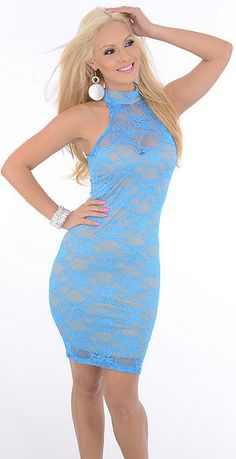 Steamy (Blue/Tan)-Great Glam is the web's best online shop for trendy club styles, fashionable party dresses and dress wear, super hot clubbing clothing, stylish going out shirts, partying clothes, super cute and sexy club fashions, halter and tube tops,