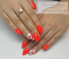 by Marcelina Rawka, Follow us on Pinterest. Find more inspiration at www.indigo-nails.com #heart #nailart #nails #red
