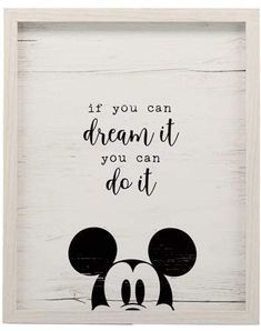 Cricut projects Open Road Brands Mickey Mouse Dream It Framed Wall Decor Preventing Bathroom Mold Yo Mickey Mouse Bathroom, Mickey Mouse Room, Mickey Mouse Classroom, Disney Classroom, Minnie Mouse, Disney Mickey Mouse, Mickey Mouse Quotes, Mickey Mouse Tattoos, Disney Wall Decor