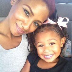 Mommy-daughter selfie