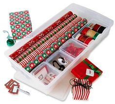Simple under-the-bed gift wrap organizer