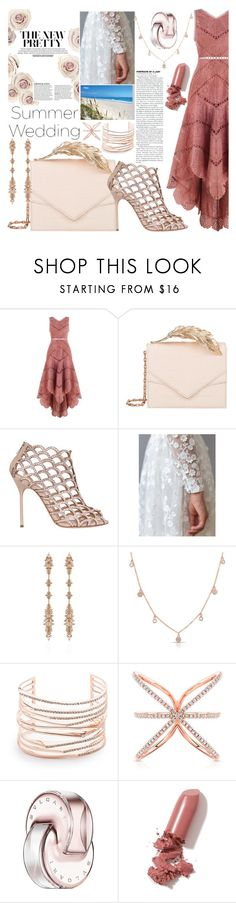 """""""Beach Bouquet"""" by guiarch ❤ liked on Polyvore featuring Zimmermann, RALPH & RUSSO, Sergio Rossi, Fernando Jorge, Anne Sisteron, Alexis Bittar, Bulgari and LAQA & Co."""