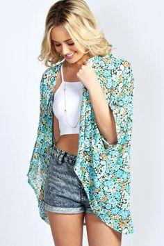 boohoo Yolanda Floral Kimono - multi £15.00 by boohoo.com