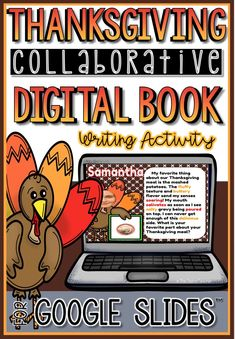 This collaborative Thanksgiving Google Slides™️ presentation is a great way to get your students engaged in creative writing. The final slideshow can be turned into a digital book that you can embed on your class blog/website and/or emailed to parents. You can even print to make a book for your classroom. Makes the perfect Thanksgiving themed digital activity!