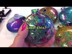 Crafty Chica Glitter Sequin Ornaments DIY!