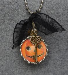 1.5 Inch Round Beveled Soldered Charm Necklace by amazingmaecharms, $30.00
