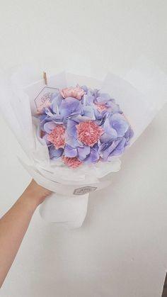 Dreamy Purple Bouquet Birthday Bouquet, Pink Carnations, Fresh Flowers, Purple, Viola