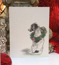 German Shorthaired Pointer Holiday Card von canadaonce auf Etsy