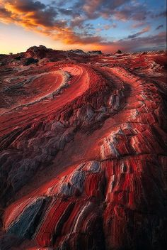 Paria Canyon in Arizona and Utah junction - Vermillion Cliffs Nogami, there is a unique beautiful scarlet sandstone.