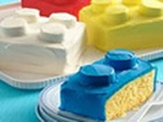 Betty Crocker Video showing step by step how to make a LEGO Block Cake