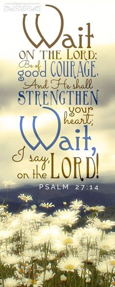 The waits on us... So. Why shouldn't we wait on him?