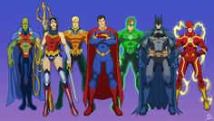 The Justice League by Phil Cho  I like the way the costumes are designed here. This should be the costume inspiration for the next Justice League movie whether it be animated or live action.