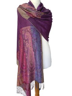 Large patterned pashmina wrap / oversized scarf with tassel trim to the ends. Excellent quality fabric it drapes and falls beautifully, large enough Pashmina Wrap, Oversized Scarf, Free Uk, Scarf Styles, Different Styles, Shawl, Tassel, Scarves, Fashion Accessories