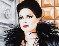 Regina drawing donated to FeathersOfHope Charity auction. by Francesca Benevento