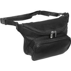 #Backpacks, #Piel, #WaistPacksFannyPacks - Piel Large Classic Waist Bag - Black