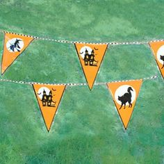 Carnival Savers - Halloween Silhouette Pennant Decoration (100 feet long!), $7.50 (http://www.carnivalsavers.com/catalog/item/2226809/9448563.htm)