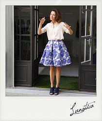 skirt, gonna, jacquard, seta, lunatica, itali, blu, lilla, femminile, made in italy, atelier, abbigliamento