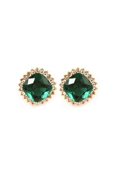 Crystal Lauren Earrings in Emerald
