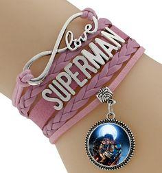 Multilayer Braided Bracelets Vintage Superman