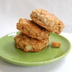 Apple Oatmeal Scones with Honey from It's Not Easy Eating Green (desserts with oatmeal honey)