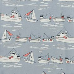 flotilla - printed canvas by the metre - fabric - Making Fantastic that Poppy Treffry now sells fabrics.  I would love to make a bag in this. @Jessica Grinsteinner Treffry
