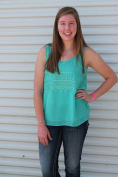 LA Style - TEAL ACCENT TANK, $28.00 (http://www.lastyle605.com/teal-accent-tank/)