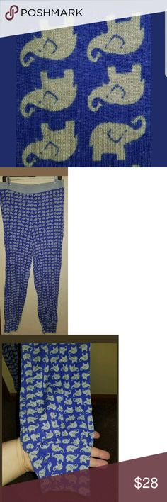 KENSIE WOMENS ELEPHANT PRINT PAJAMA PANTS/LOUNGE Size XL Colors:blue/GRAY  MEASUREMENTS Waist(unstretched, when stretched may add inches)= Length= Inseam=  I ALSO HAVE A PAIR OF SIMILAR KENSIE PAJAMA PANTS IN MY SHOP IN BLACK & WHITE WITH ELEPHANTS ON THEM IN MY CLOSET, SIZE XL, FEEL FREE TO CHECK THEM OUT IN MY POSH CLOSET. BUNDLE AND SAVE.  **PRE OWNED ITEM IN VERY GOOD GENTLY USED CONDITION*** Kensie Intimates & Sleepwear Pajamas