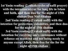 LAYLAT'AL BARAAT MID-SHABAN