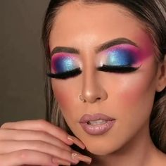 Fancy Makeup, Sexy Makeup, Pink Makeup, Glam Makeup, Eyeshadow For Green Eyes, Eyeshadow Makeup, Bratz Doll Makeup, Natural Prom Makeup, Blue Makeup Looks