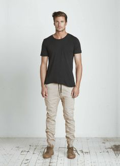 +1 Zanerobe Sureshot Tan Pant and Spring Court Shoes