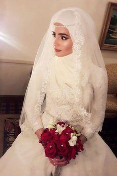 c6d94db316dbf لفات طرح عصرية ومتنوعة للعروس المحجبة. Hijab Style DressHijab Wedding ...