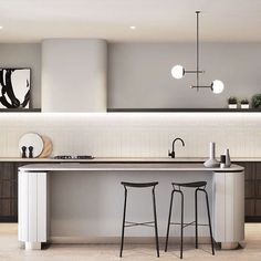 Modern Kitchen Interior kitchen is your house's heart. As the integral and central part of a house, you may look for kitchen lighting ideas. Kitchen Lighting Design, Modern Kitchen Design, Interior Design Kitchen, Minimal Kitchen, Mim Design, Layout Design, Design Ideas, Design Trends, Interior Natural