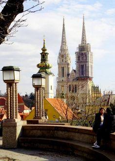 Zagreb - Croatia Zagreb Croatia, Barcelona Cathedral, Building, Travel, Viajes, Buildings, Destinations, Traveling, Trips