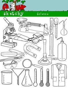 Science Scientific Clipart Bundle Set