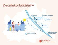 Baden in Wien - die 10 beliebtesten gratis Badeplätze der Nachbarinnen und Nachbarn von FragNebenan