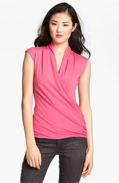 Vince Camuto Faux Wrap Top available at #Nordstrom