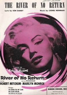 The River of No Return | US Sheet Music, 1954