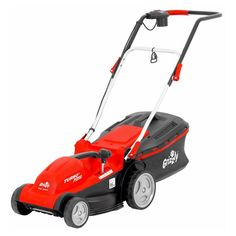Grizzly Electric Mower Cut A stylish top quality Grizzly mower with a 35 cm cut and a 3 Year domestic guarantee. Turbo Motor, Grass Type, Weather Conditions, Lawn Mower, Outdoor Power Equipment, Christmas Offers, Bags, Handle