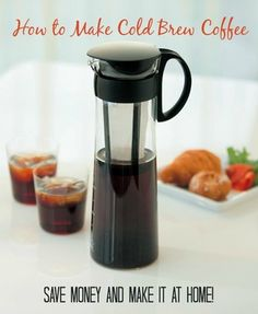 How to make cold brew coffee at home - So easy and will save you a ton of money! www.PaleoCupboard.com